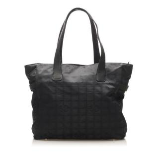 Chanel Black canvas Travel Line Canvas Tote Bag