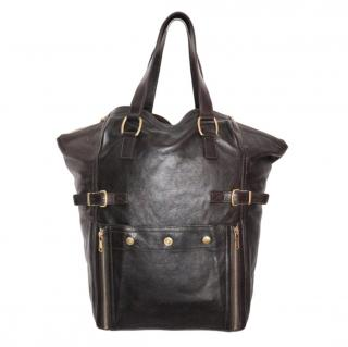 Yves Saint Laurent Brown Downtown Leather Tote Bag