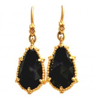 Judith Ripka Onyx & Diamond Calypso Earrings