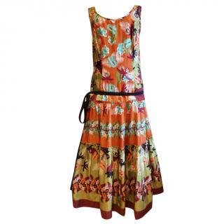 Philosophy di Alberta Ferretti Multicoloured Printed SIlk Dress