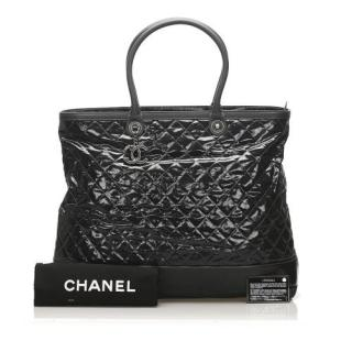 Chanel Quilted Patent Leather XL Travel Bag