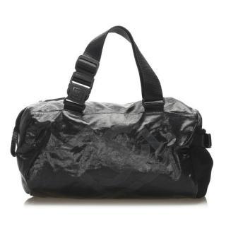 Chanel Sports Line Black Nylon Duffle Bag