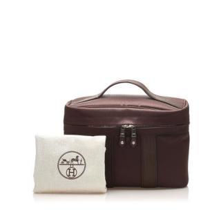 Hermes Acapulco Brown Canvas Vanity Bag
