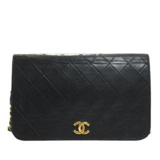 Chanel CC Timeless Black Lambskin Quilted Leather Flap Bag