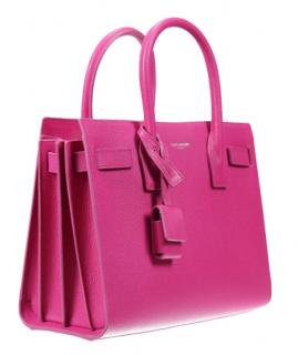 Saint Laurent Pink Leather Small Sac Du Jour