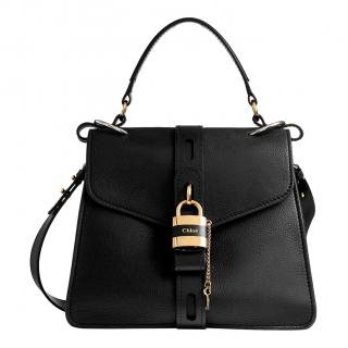 Chlo� Black Leather Medium Aby Day Lock Bag
