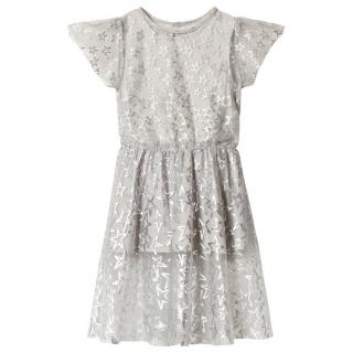 Stella McCartney kids Silver Stars Organza Dress