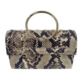 Elie Saab Studded Snakeskin Bracelet Bag