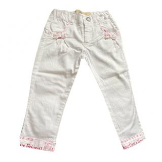 Gaultier Kids White & Pink Jeans