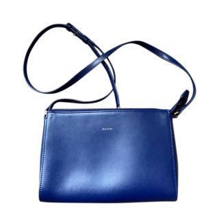 Paul Smith Blue Leather Crossbody Bag