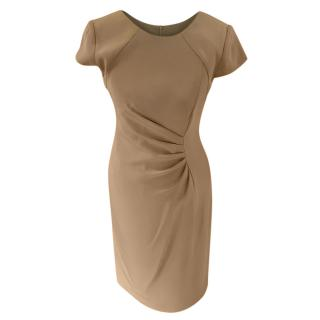 Armani Collezioni Grey Ruched Fitted Dress