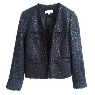 Michael Michael Kors Black Embellished Open Jacket