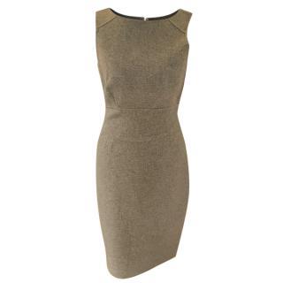 Carolina Herrera Grey Sleeveless Cashmere Dress