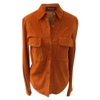 Asprey Orange Suede Shirt