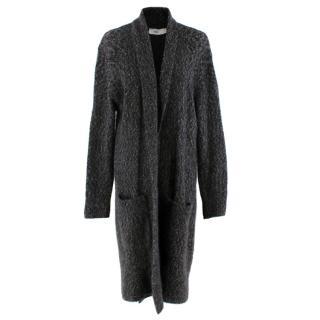 Closed Grey Mohair Blend Knit Long Cardigan