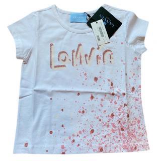 Lanvin Kids 3Y Paint Splash Logo Tee