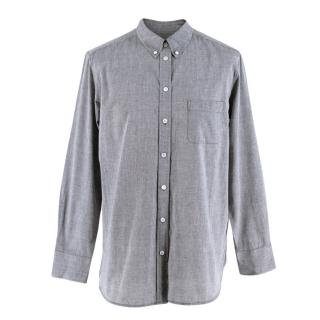 Equipment Femme Grey Cotton Long Sleeve Shirt