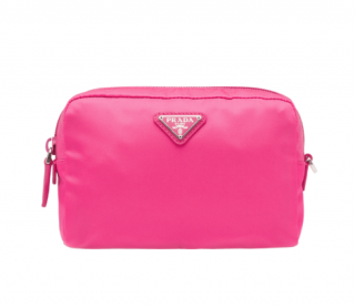 Prada Fuchsia Nylon Zip-Around Pouch