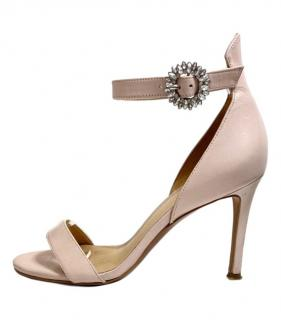 Michael Michael Pink Leather Crystal Strap Sandals