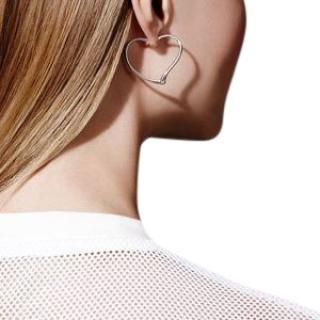 Tiffany & Co. Elsa Peretti Open Heart Hoop Single Earring