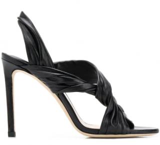 Jimmy Choo Lalia 100 black leather sandals