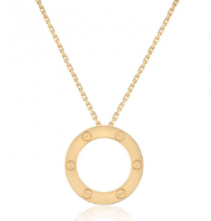 Cartier Round Love Necklace in Pink Gold