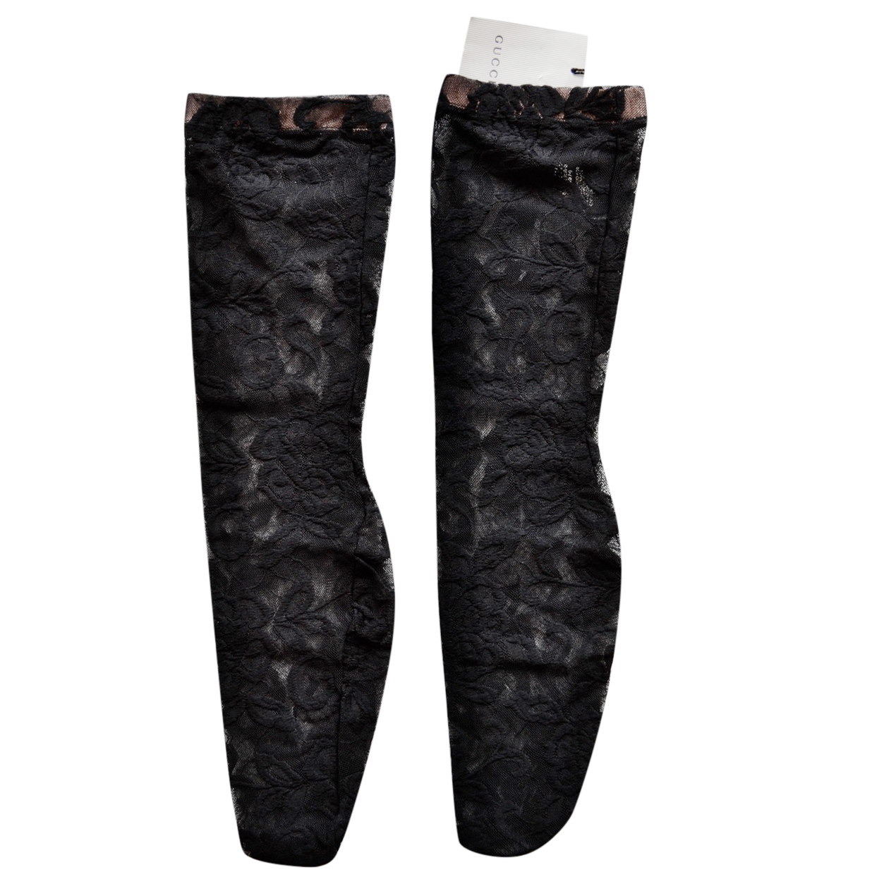 Gucci Black Lace Floral Socks