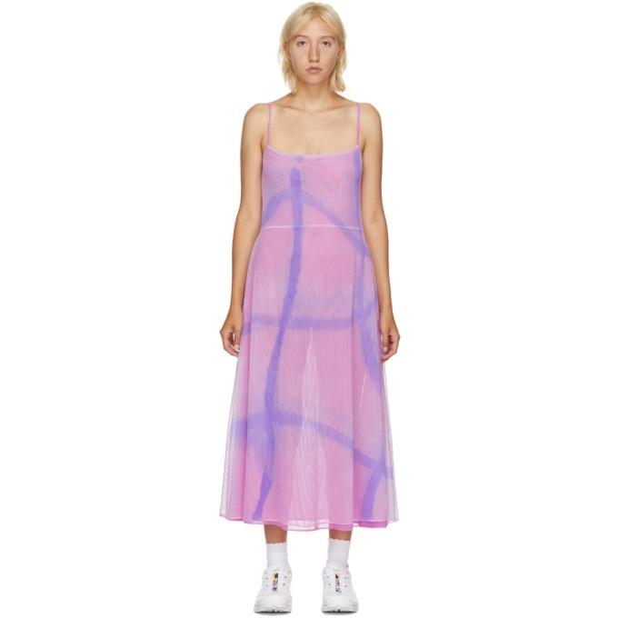 Collina Strada Pink Mesh Market Dress