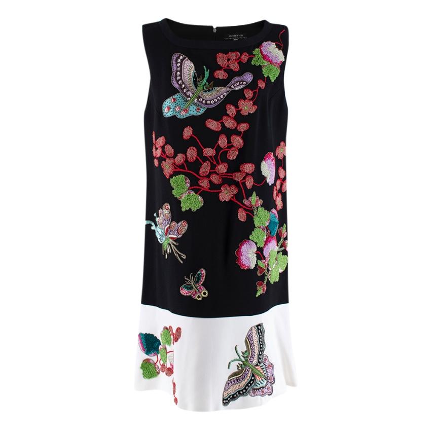 Andrew GN Black & White Embroidered Dress
