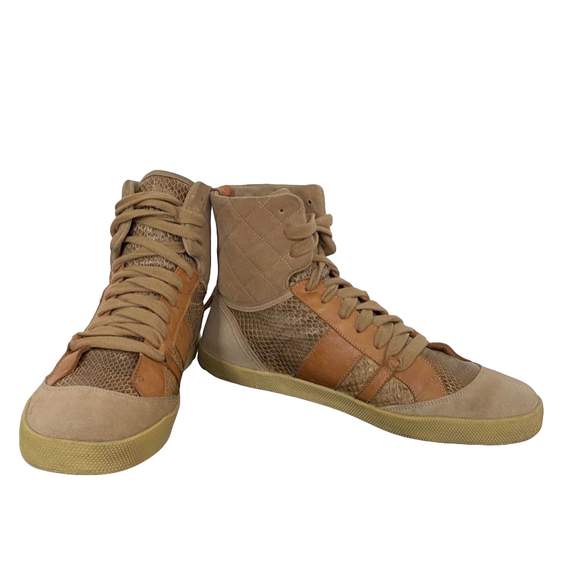Chloe Python/Leather/Suede high top trainers