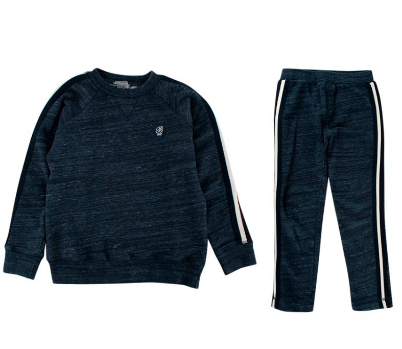 Bonpoint Kid's 8Y Blue Cotton Blend Sweat Suit