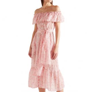Lisa Marie Fernandez Mira printed cotton-voile midi dress