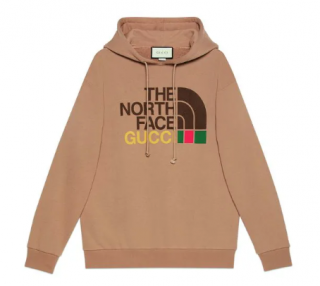 Gucci x The North Face Cotton Hoodie in Brown