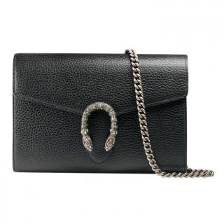 Gucci Black Dionysus leather mini chain bag