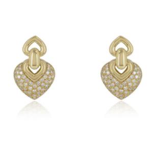 Bespoke Yellow Gold Diamond Drop Earrings