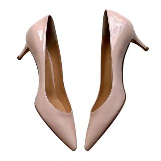 Gianvito Rossi Pale Pink 55mm Patent Pumps