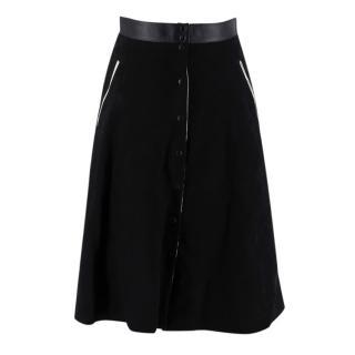Alice Balas Paris Black Suede A Line Skirt