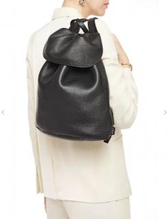 The Row Black Leather Backpack