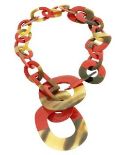Buffalo Isidore Horn Red Lacquer Necklace
