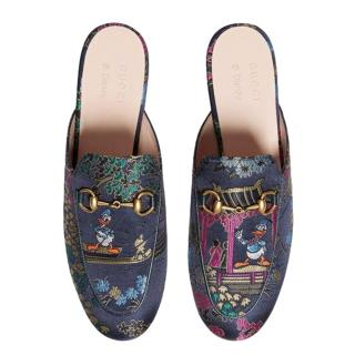 Gucci x Disney Princetown Jacquard Slipper with Donald Duck Detail