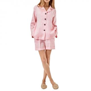 Sleeper Pink Linen Pyjama Set