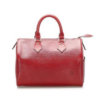 Louis Vuitton Red Epi Leather Speedy 25