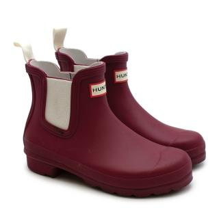 Hunter Cherry Original Chelsea Boots