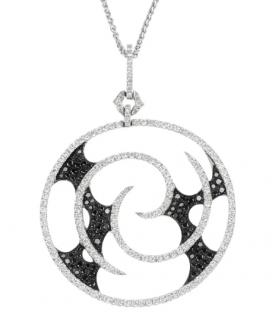 Stephen Webster 18kt White Gold Black & White Diamond Vortex Necklace
