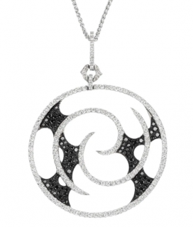 Stephen Webster 18kt White Gold Black & White Diamond Vortex Necklace