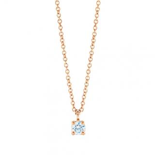 Tiffany & Co. solitaire diamond pendant in 18k rose gold