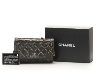 Chanel Metallic Canvas Wallet On Chain