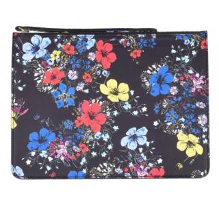 Erdem Black Floral Print Zip-Pouch