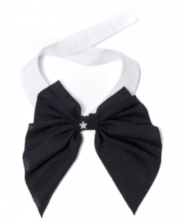 Catherine Osti Black & White Wool & Cotton Chris Collar