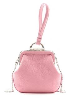 Ermanno Scervino Pink Leather Wristlet